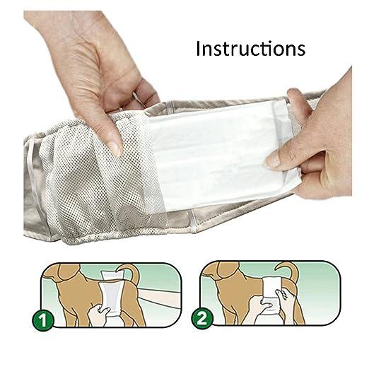 PETCUTE Camuflaje Envolturas Para Pañales de Perro Macho Lavable (paquete de 2) Comodidad Mascota Perrito Pañales Para la Barriga Azul: Amazon.es: Hogar