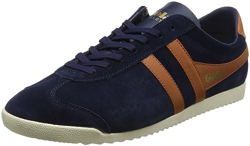 Gola Bullet Suede, Sneaker Uomo, Blu (Navy/Burnt Orange XU), 43 EU