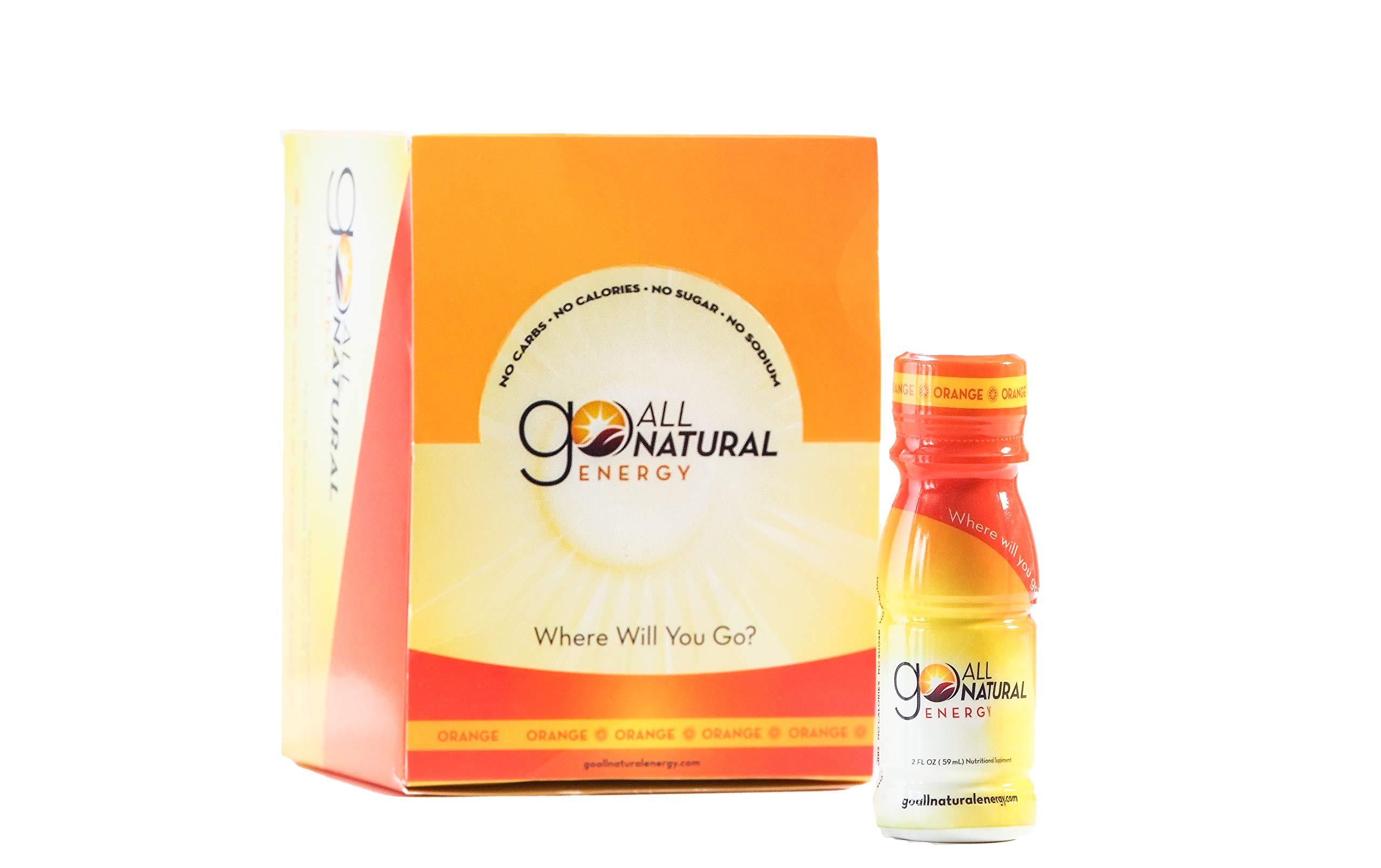 Go All Natural Energy 2 Ounce Shot 12 Pack (Orange) by Go All Natural Energy
