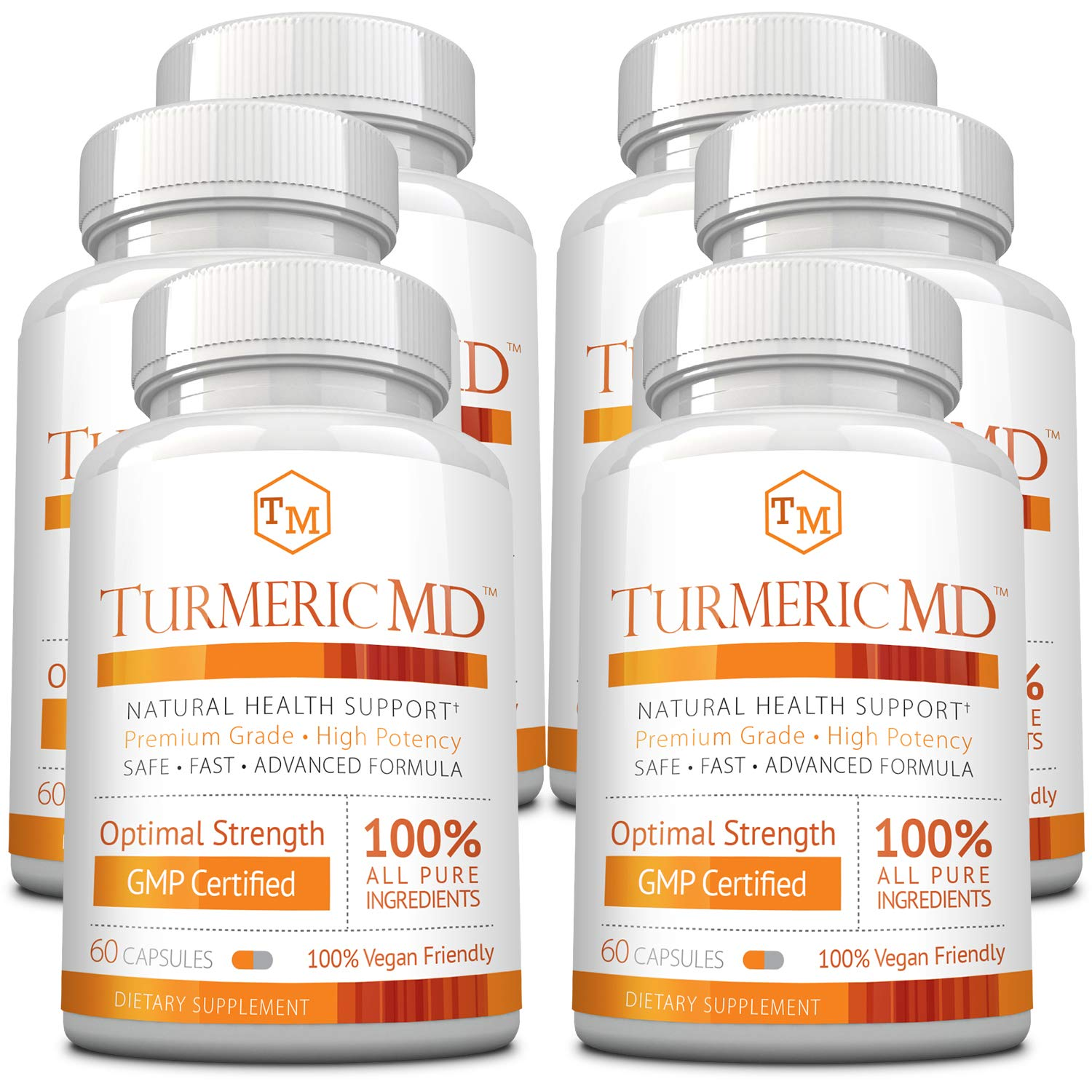 Turmeric MD - with BioPerine & 95% Standardized Turmeric Curcuminoids - Natural Anti-Inflammatory, Antioxidant, Pain Relief and Antidepressant - 360 Capsules (6 Months Supply)
