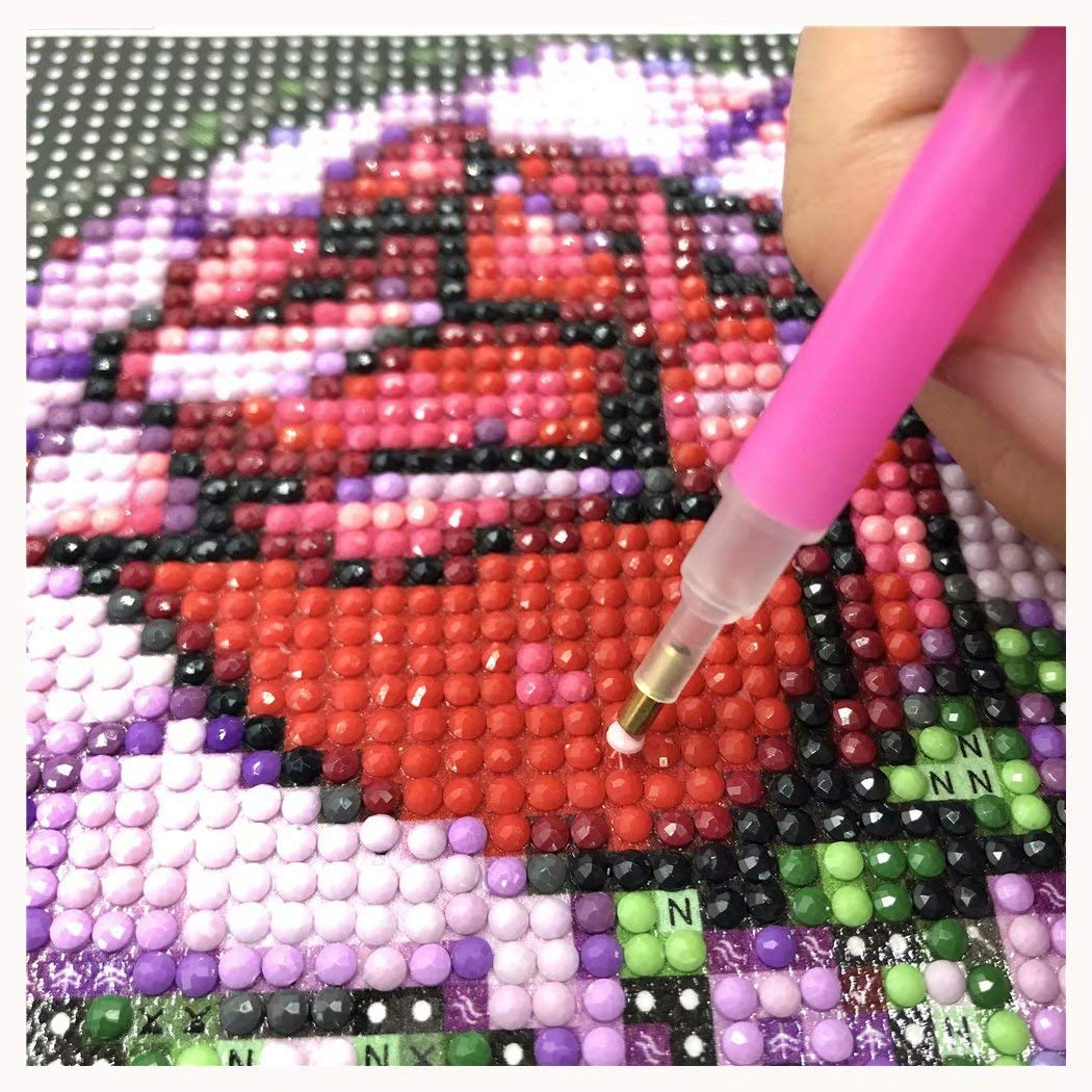 5D DIY Diamant Broderie R/ésine Point de Croix Peinture Kits Broderie D/écoration Salon Chambre Autocollant mural Diamond Painting Kits Complets Lapin de dessin anim/é 30X40cm