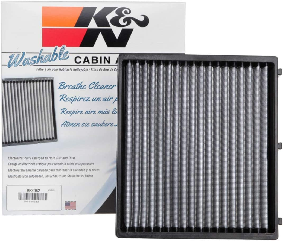 Kia K/&N VF2010 Washable /& Reusable Cabin Air Filter Cleans and Freshens Incoming Air for your Hyundai