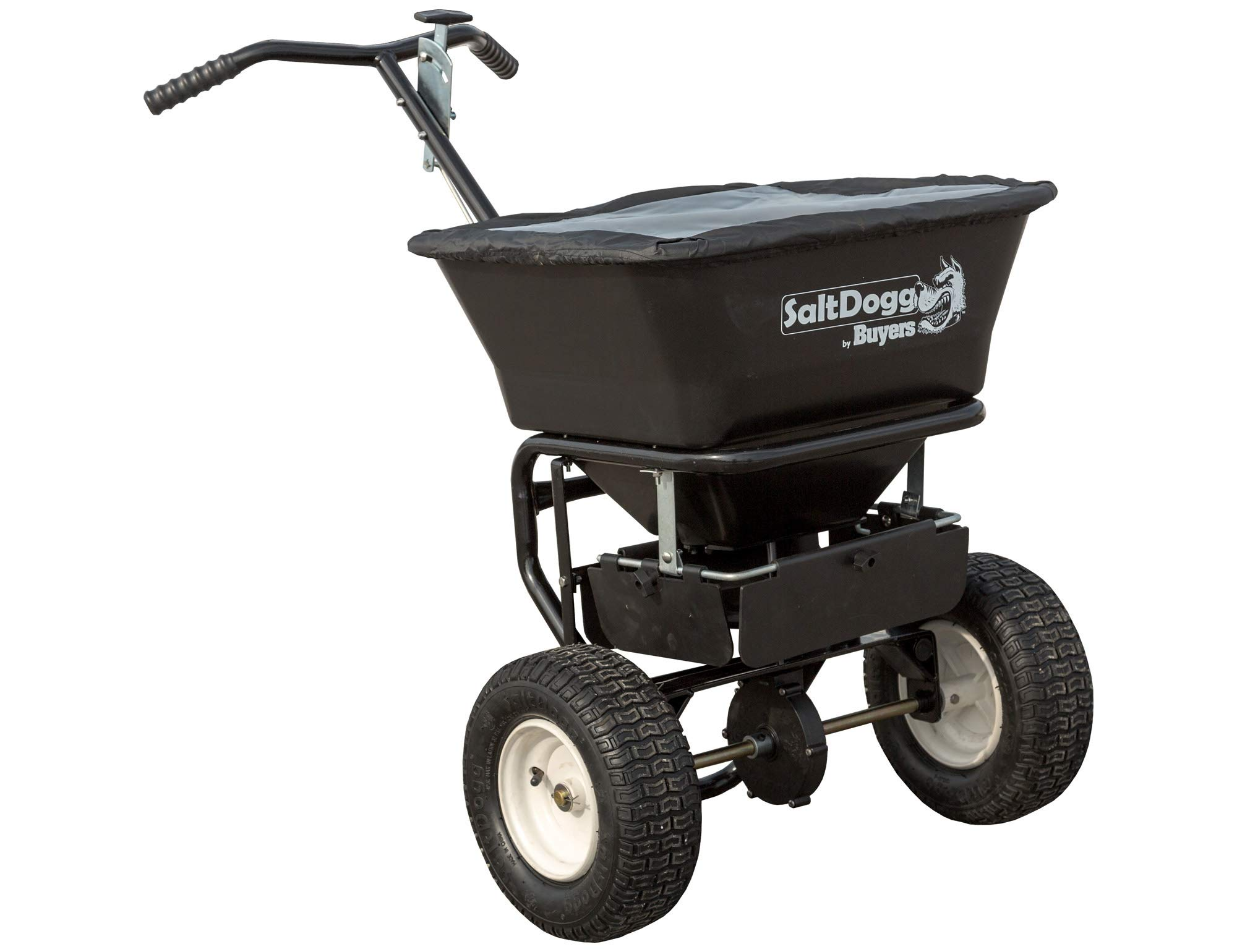 SaltDogg WB101G Professional 100 lb Capacity Walk Behind Broadcast Salt Spreader, Steel Frame by SaltDogg
