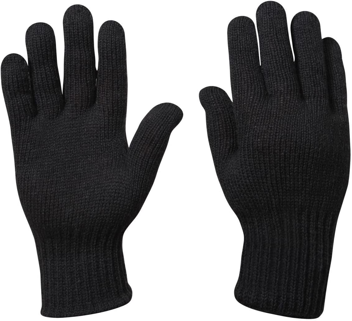 Grey D-3A Military Wool Nylon Blend Glove Liners Made in the USA Rothco 8418