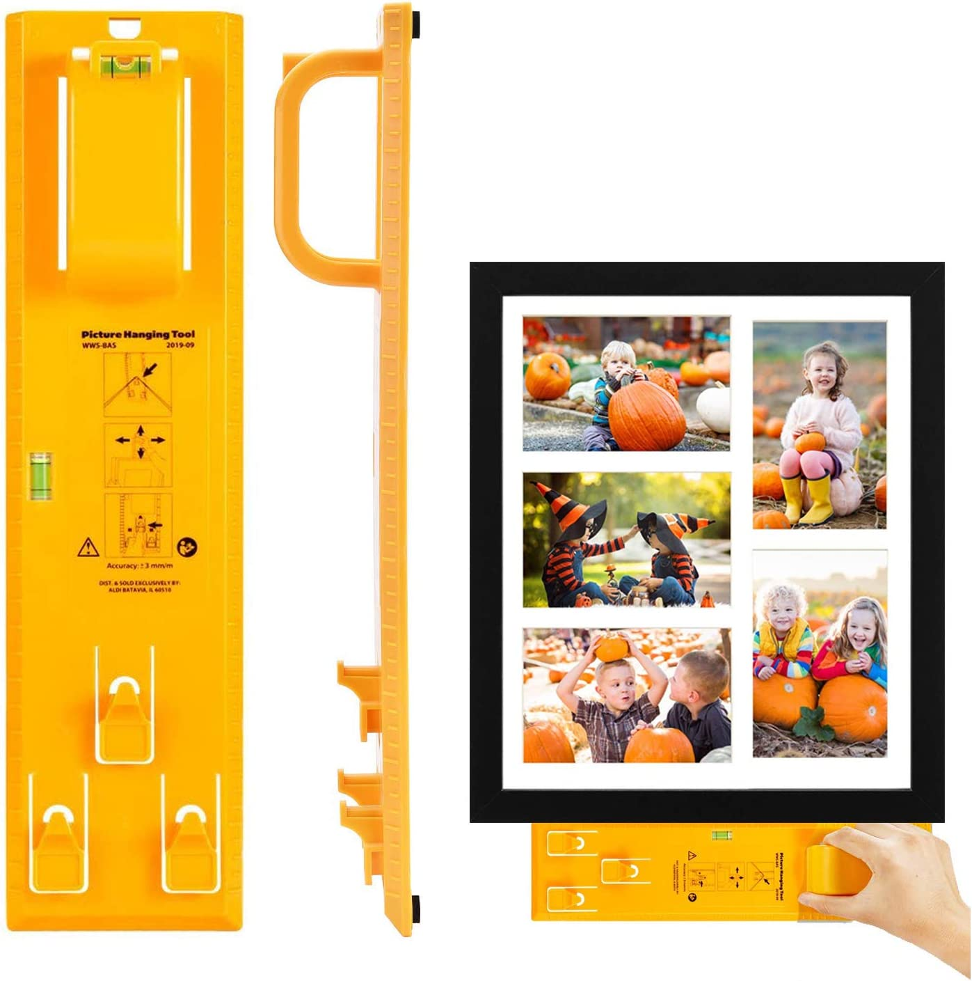 Artwork and Socket Mirrors Clocks Picture Frame Hanger Tool with Level Ruler Picture Hanger Wall Hanging Kit Measuring Tool Suitable for Hanging Pictures 2020 New Upgrade Picture Hanging Tool