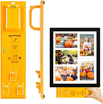 Picture Hanging Kit, Picture Frame Hanger Tool (Picture Hanging Ruler)