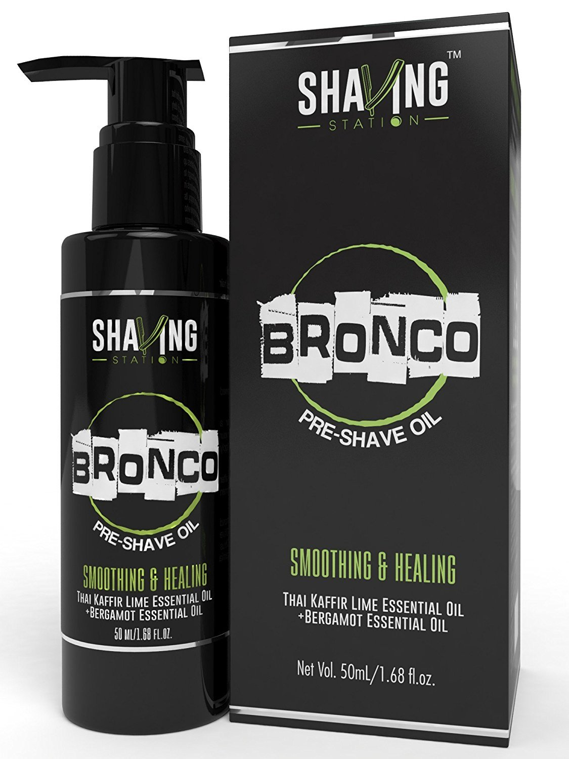 Shaving Station - Pre Shave Oil - Paraben & Sulphate Free - 50ml - Thai Kafir Lime & Bergamot