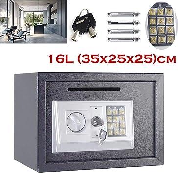 Caja de Seguridad electrónica con contraseña para Dinero y Dinero en Efectivo, para la Oficina, el