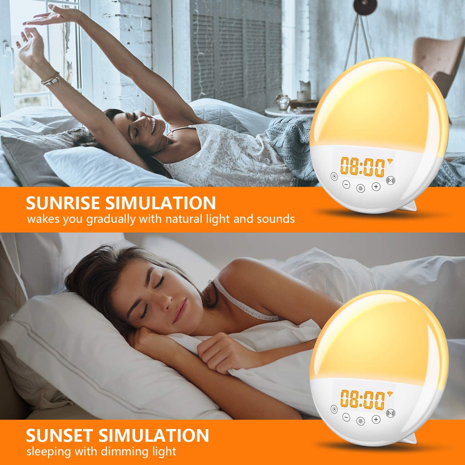 Wake Up Light WiFi Sunrise Alarm Clock