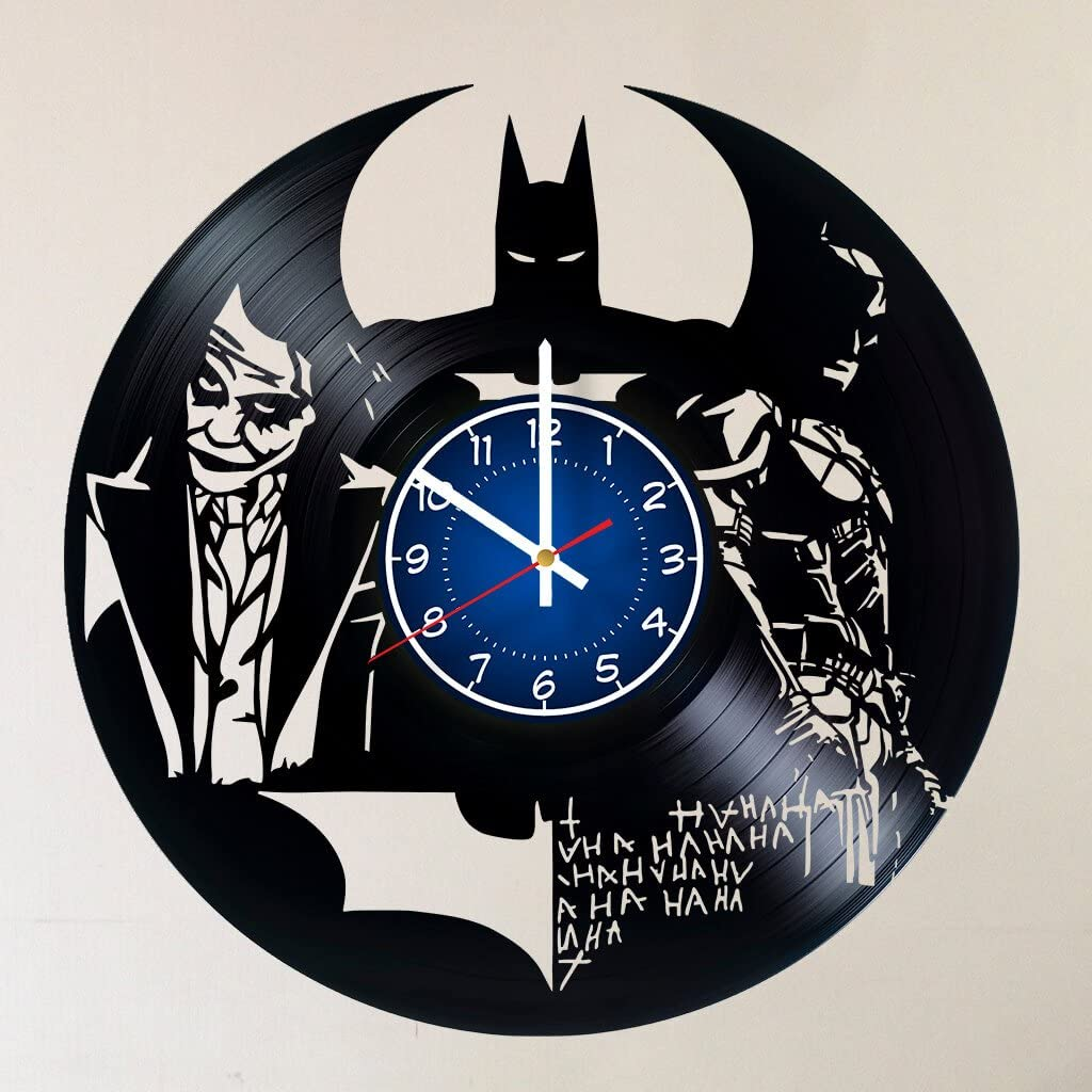 BATMAN 12 inches / 30 cm Vinyl Record Wall Clock | Decor For Kids Room | Dark Knight | Joker| Best Geek Gift