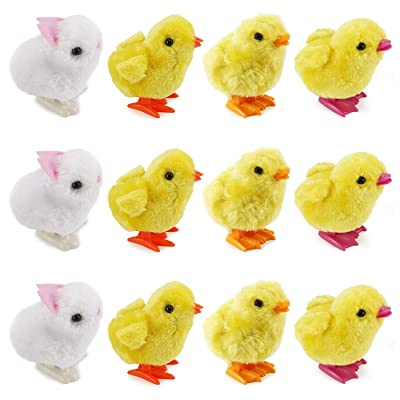 Liberty Imports 1 Dozen Wind-Up Jumping Chicken and Bunnies Party Favors (Pack of 12): Toys & Games