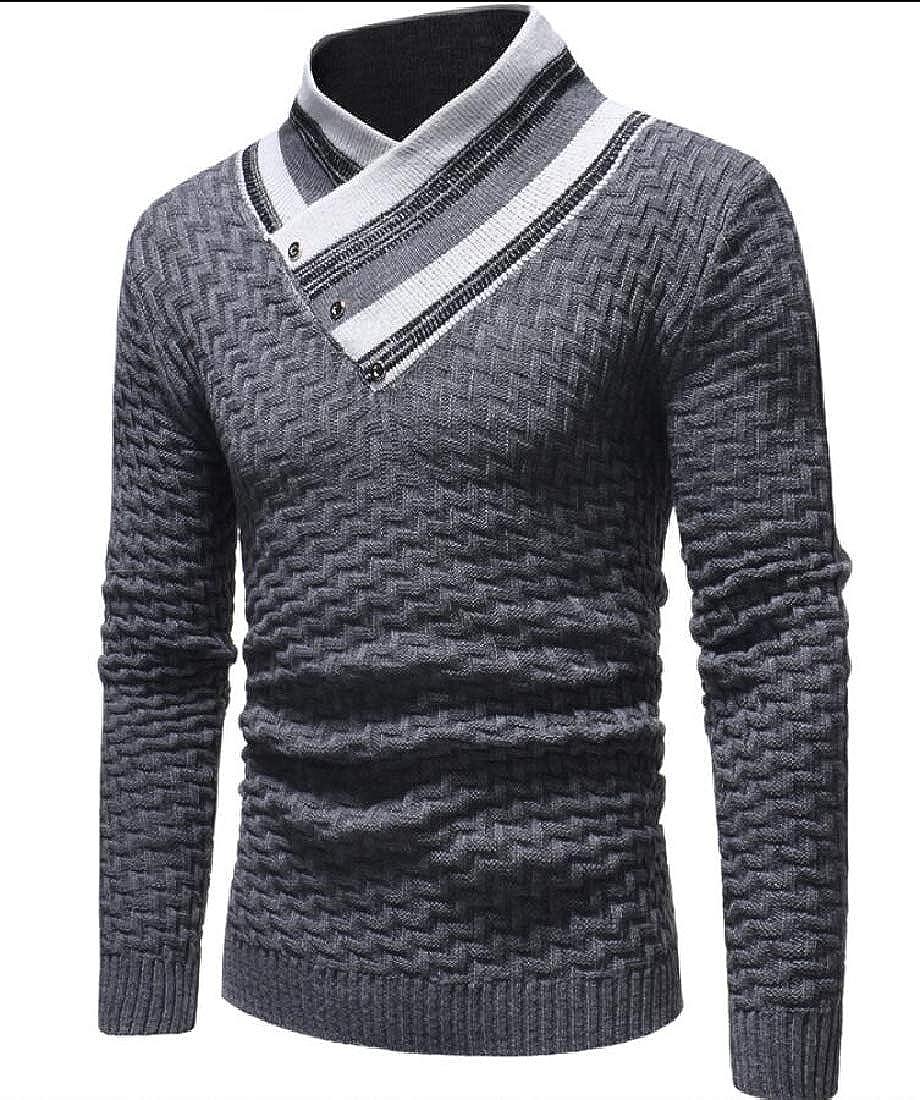 WSPLYSPJY Men Turtleneck Pullover Sweater Knit Sweater Tops Knitwear