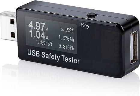 USB voltage//Ampere misuratore di potenza tester multimetro test capacit/à della Power Bank cavo velocit/à di carica