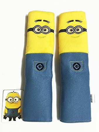 2 Pieces Minion 10quot Car Seat Belt Shoulder