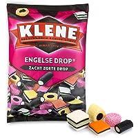 Klene Engelse Drop, zoete Engelse drop – 6 zakken, 675g per stuk, drop mix in verschillende vormen en kleuren