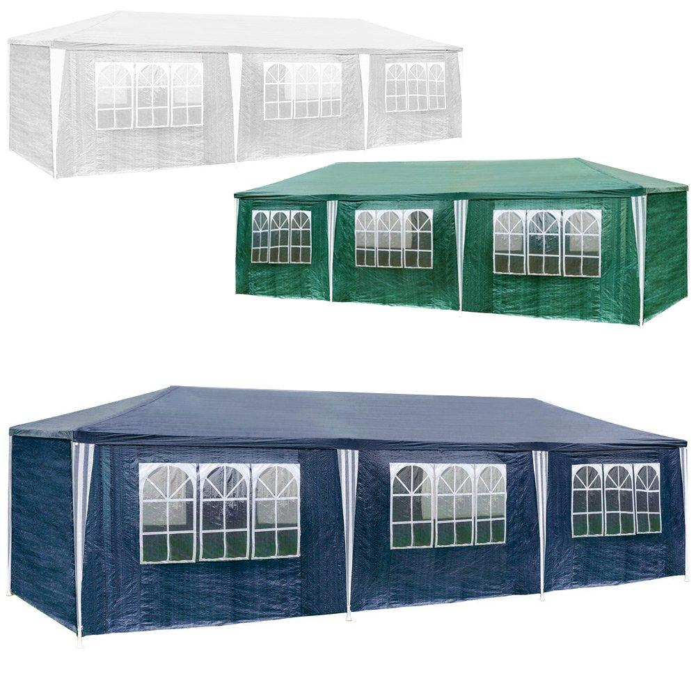 TecTake Carpa de Campaña Gazebo pabellón de jardín de bólido para fiesta 9 x 3 m - varios colores para elegir -, Bleu | no. 400935: Amazon.es: Jardín