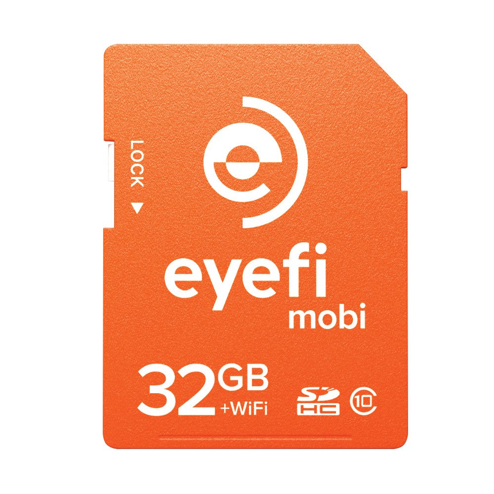 Eyefi Mobi 32GB Class 10 Wi-Fi SDHC Card with 90-day Eyefi Cloud Service (Mobi-32-FF)