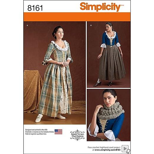 Simplicity Pattern 8161 Patrones de Costura para Patrones de ...