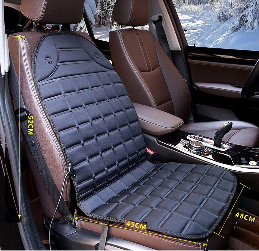 Amazon.com: Cojín calefactable para asiento de coche, 12 V ...