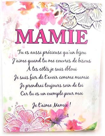 Les Trésors De Lily N4184 Toile Poème Mamie 20x15 Cm