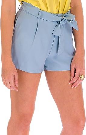 Ca Va Bien Fashion Shorts Pantalones Cortos Mujer Verano Elegantes Paperbag Shorts Con Cinturon Excelente Pantalon Corto Para Mujer Con Bolsillos Amazon Es Ropa Y Accesorios