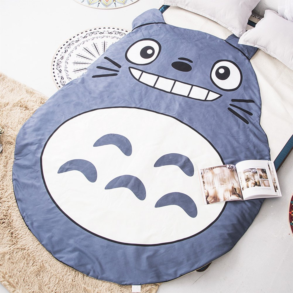 Cute Totoro Summer Quilt Gift 3D Design Comforter Machine Washable Blanket Bedding Home Textiles Children/Students/Girlfriend/Boyfriend Gifts Twin/Full/Queen Size Brushed Polyester by Sport Do