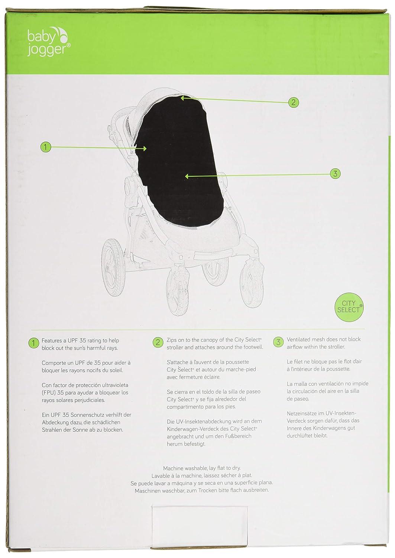Free Shipping! Baby Jogger City Select UV//Bug Canopy New