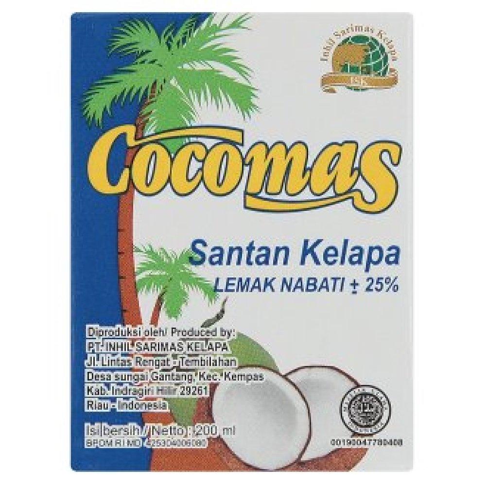 Cocomas Coconut Cream 25% 200ml (628MART) (3 Packs)