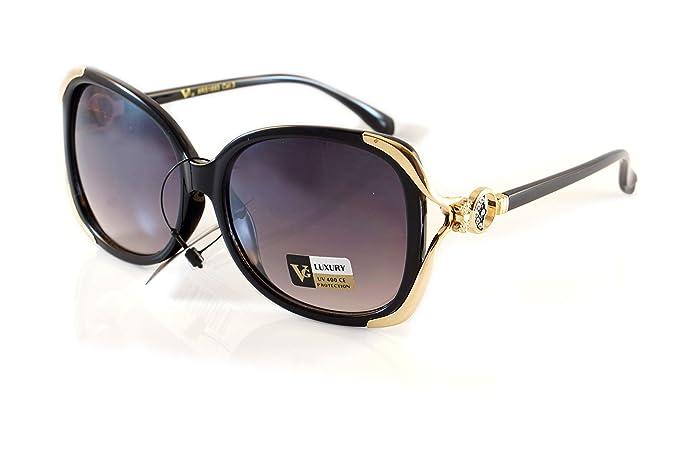 Amazon.com: Gafas de sol de lujo con diseño de mariposa de ...
