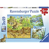 Ravensburger 08050, Animals 3 x 49 Piece Puzzles in a Box, 3 x 49 Piece Puzzles for Kids, Every Piece is Unique, Pieces…