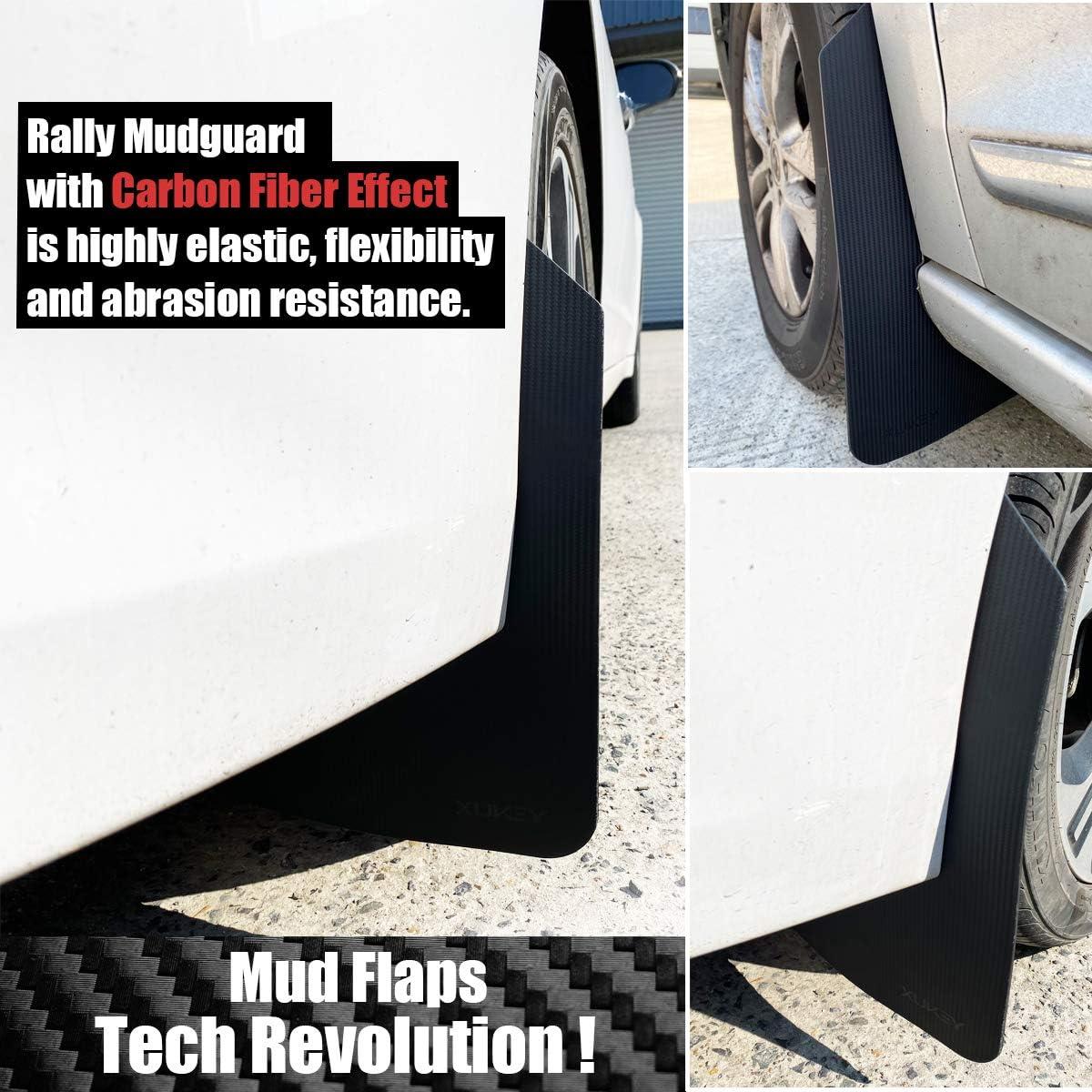 XUKEY 2pcs//Set Universal Carbon Fiber Effect Mudflaps for Car Pickup SUV Van Truck Mud Flaps Splash Guards Mudguards Dirty Traps