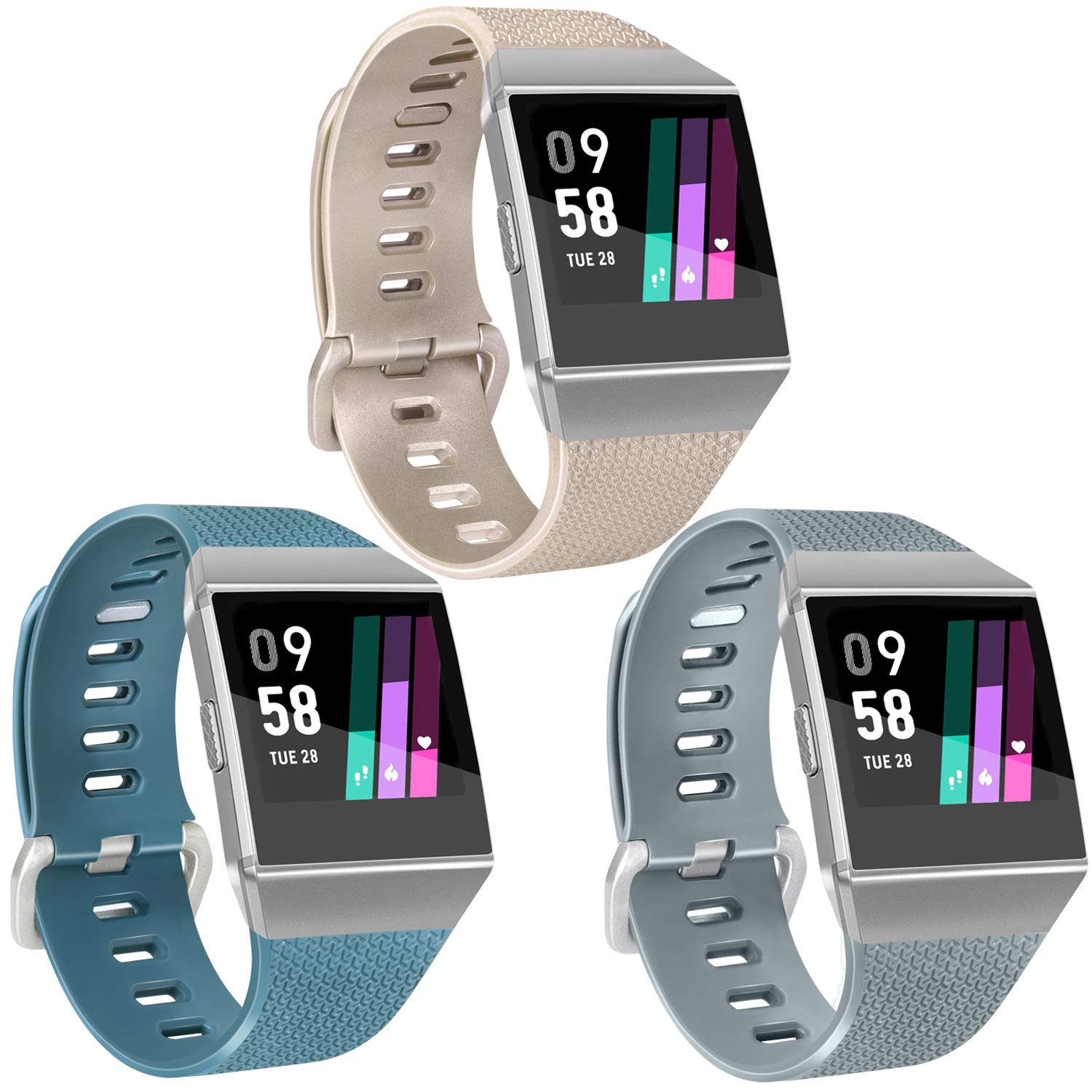 Vancle Sport Bands Compatible with Fitbit Ionic Bands for Women Men, Classic Wristbands Fitbit Ionic Accessories Straps for Fitbit Ionic Smart Watch, ...