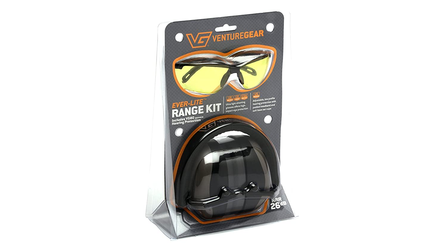 d66fb420f6e Amazon.com   Venture Gear Shooting Glass and Hearing Protection Range Kit