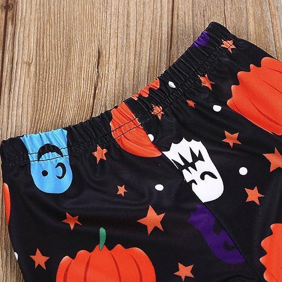 Ropa Bebé Niña, ❤ Modaworld Bebés recién Nacidos bebé niña Tops de Calabaza Camisas Nestidos Faldas+ Pantalones + Bufandas Conjunto de Trajes de ...
