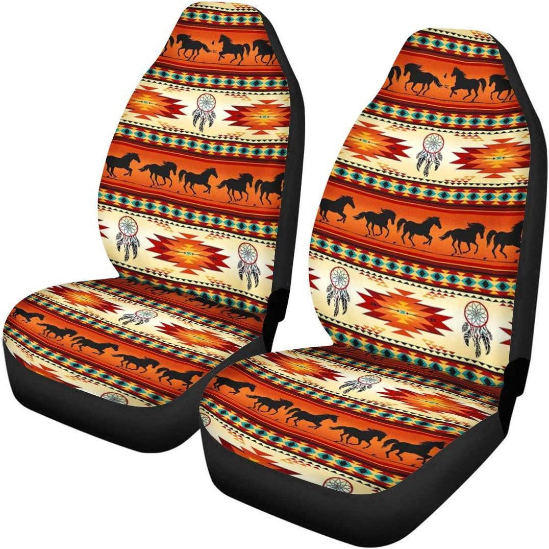 JoyLamoria Nautical Sea Turtle Print Universal Car Seat Cover 2pcs Bucket Seat Covers Car Front Seat Covers Cushion Mat