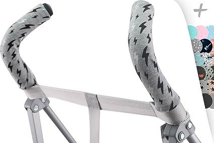 JANABEBE Funda protectora universal para manillar, mango de silla de paseo, cochecito (BLACK