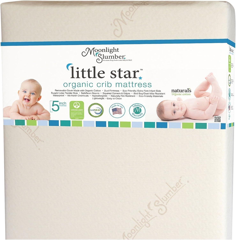 Moonlight Slumber Organic Dual Sided Baby Crib Mattress Firm Sided For Infants