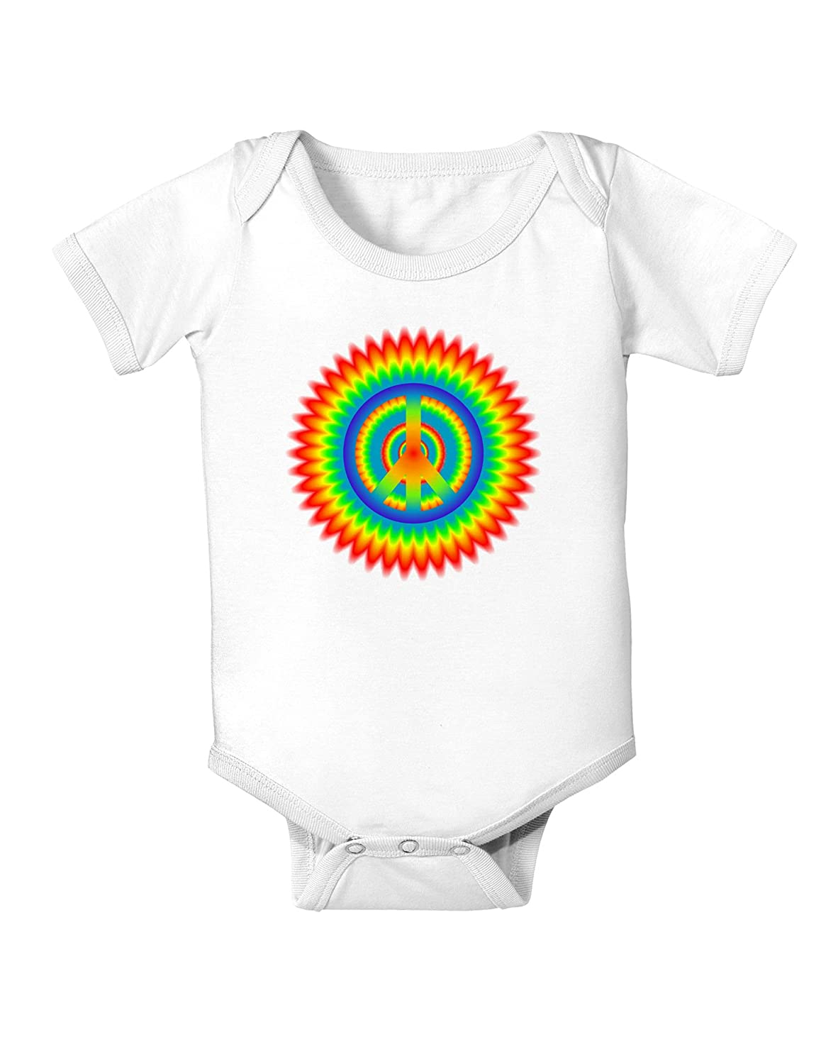 TooLoud Psychedelic Peace Infant One Piece Bodysuit