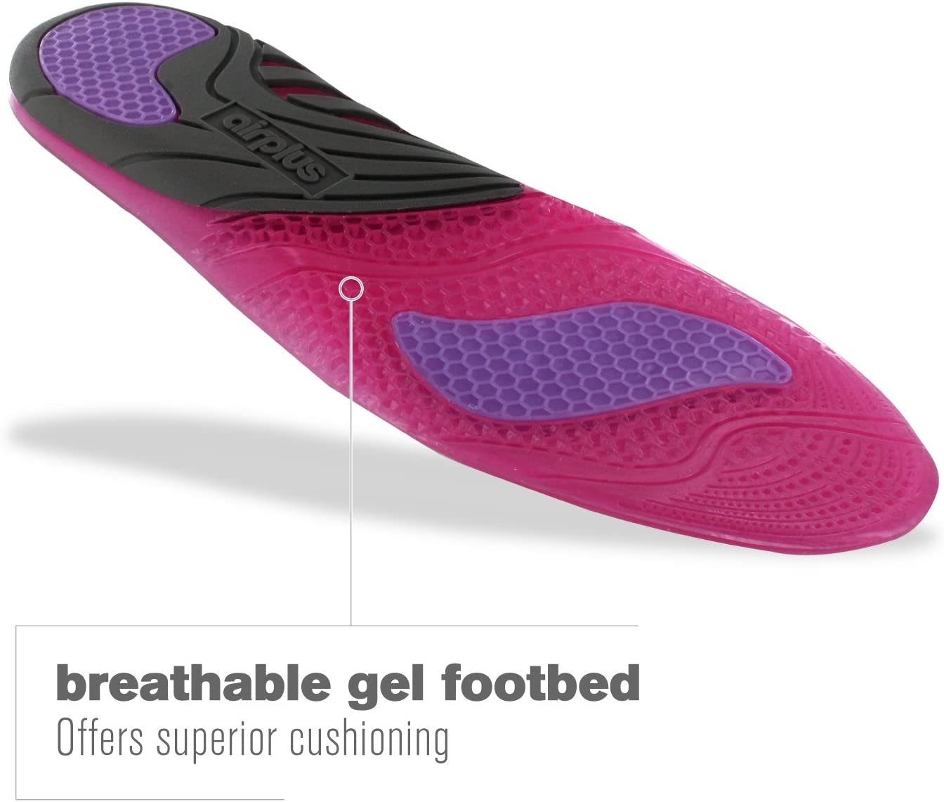 Airplus Amazing Active Gel Comfort Breathable Womens Shoe Insoles Size 5-11 NEW