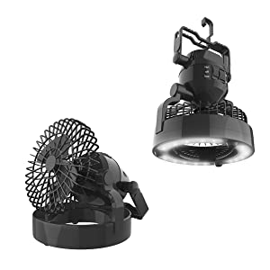 Wakeman 2 in 1 Portable Camping Lantern with Fan
