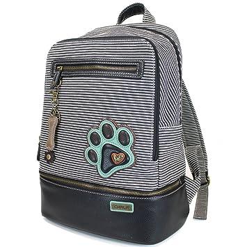 510655e29598 Amazon.com   Chala Backpack Style Purse Striped with detachable Key Chain  Fob Charm (Black Stripe)   Kids' Backpacks