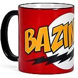Big Bang Theory Bazinga Tasse Sheldon Kaffeebecher Keramik rot