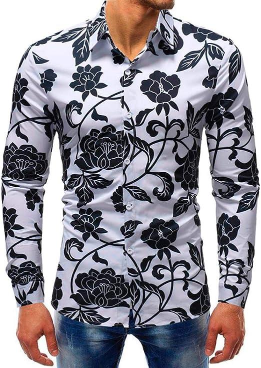yuny Oud Printed blous Casual Long Sleeve Slim Camisetas Tops Camisa de hombre Slim Fit Negro de manga corta verde kurzarmhemden para Azul Rojo Cuadros Gamuza de hombres blanco moderno camisas: Amazon.es: