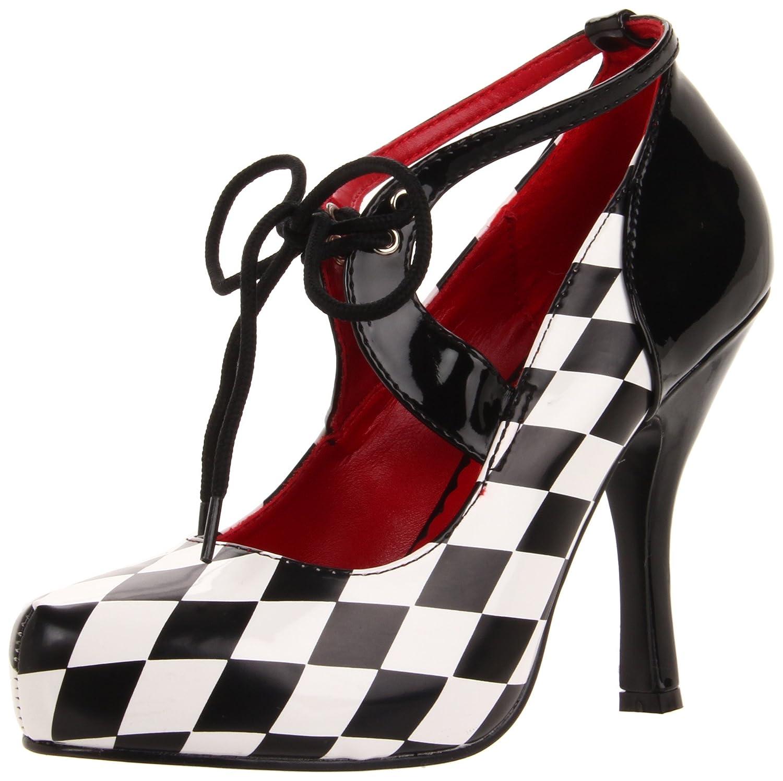 Funtasma Damen Harlequin-03 Sandaleen mit Absatz, Schwarz, 36 EU