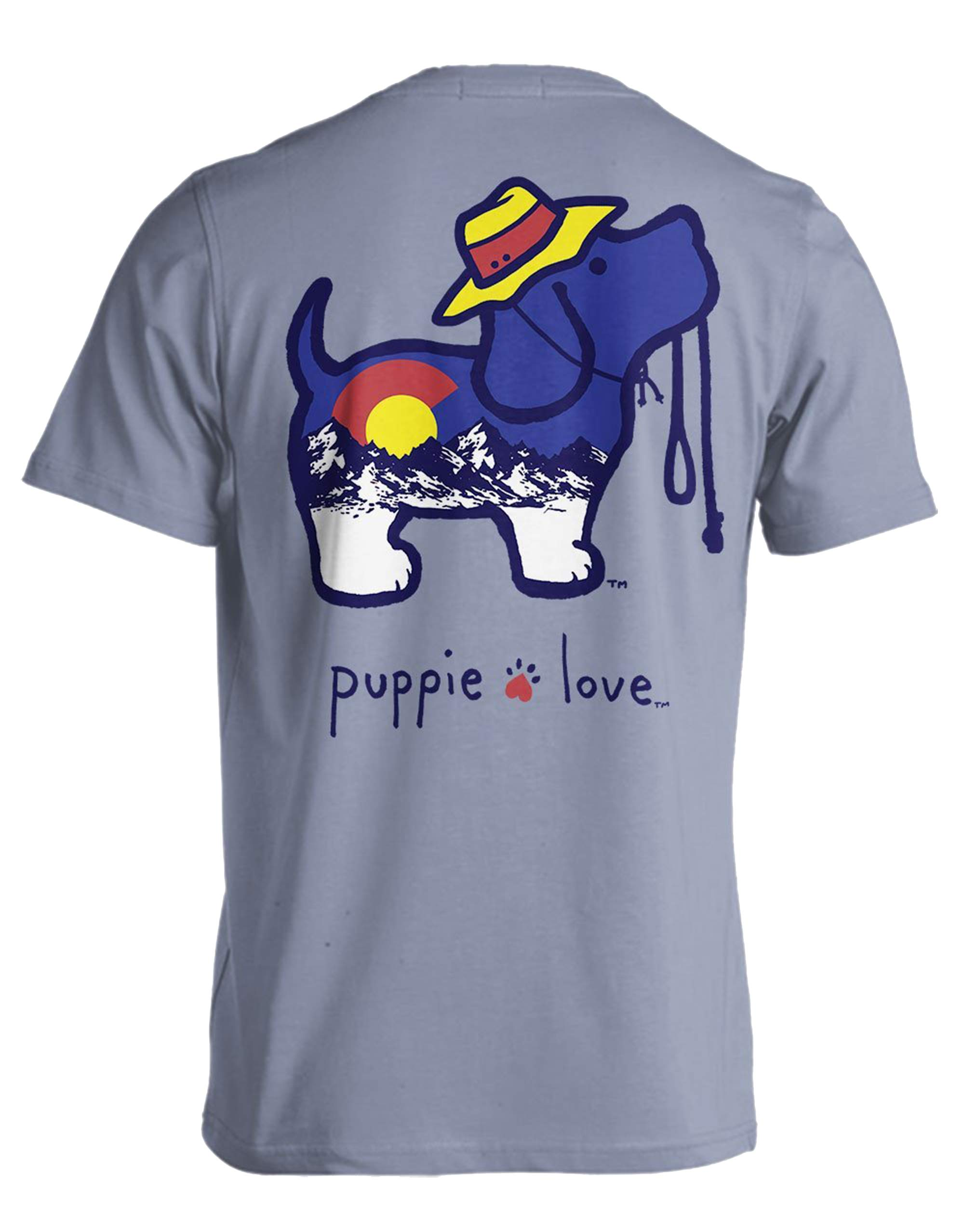 Puppie Love Colorado Pup Adult Short Sleeve T-Shirt-Large