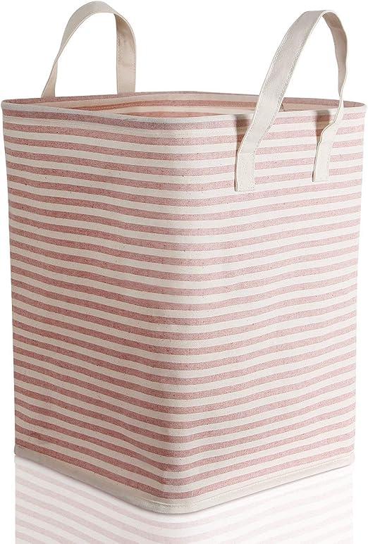 Caja de almacenamiento grande, ramio / tela de lona cesta de ...