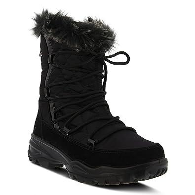 52decd957f59 Spring Step Flexus Women s Nylon Waterproof Winter Boot DENILIA Black