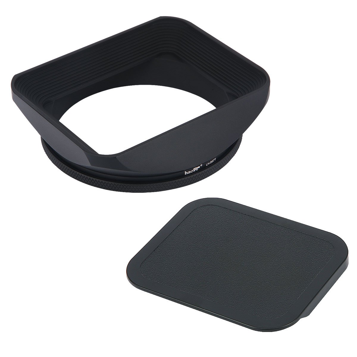 Haoge 67mm Square Metal Screw-in Mount Lens Hood Shade with Cap for 67mm Canon Nikon Sony Leica Leitz Carl Zeiss Voigtlander Nikkor Panasonic Fujifilm Olympus Lens and Other 67mm Filter Thread Lens by Haoge