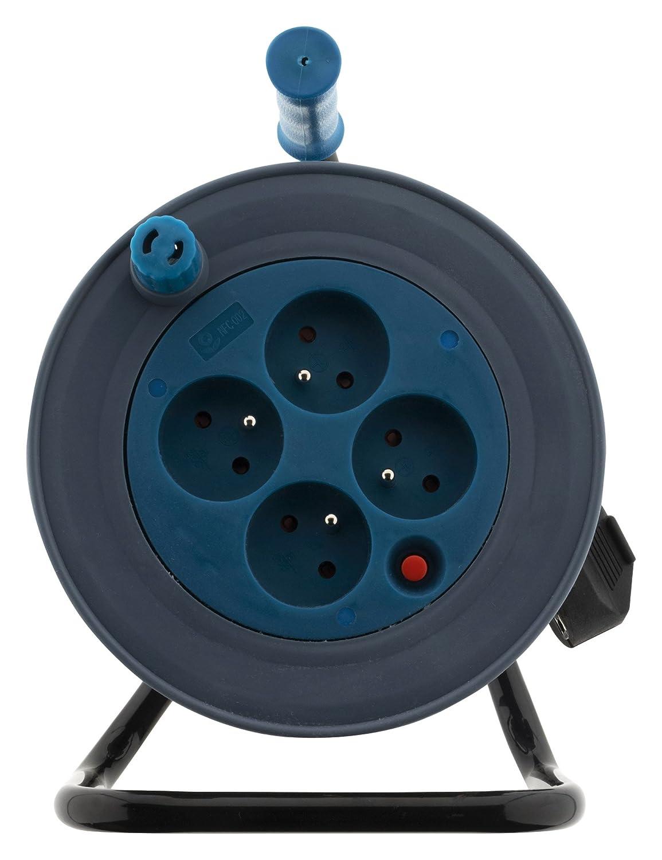 Bleu Enrouleur m/énager 15m 3G1 mm/²