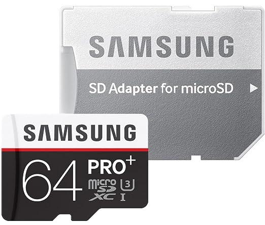 2801 opinioni per Samsung MB-MD64DA/EU Sched MicroSD Pro+ da 64GB, Adattore SD incluso